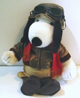 1986 Peanuts SNOOPY as FLYING ACE LE of 2500 PLUSH DOLL by Determined Production