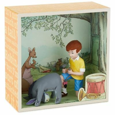 Winnie the Pooh Hundred Acre Wood Shadow Box - Fixing Eeyore's Tail