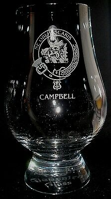 Clan Campbell Scotch Malt Whisky Glencairn Tasting Glass