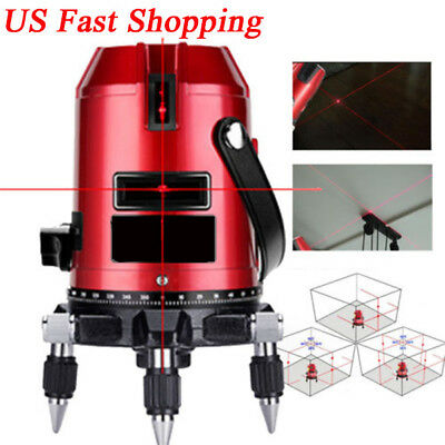 Automatic Self Leveling 5 Line 6 Point Laser Level Rotary Measure