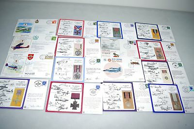 Royal Air Force 1972-1988 Flight Collection of  16 Autographed Covers