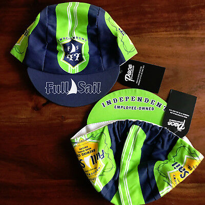 FULL SAIL BREWING CO TEAM CYCLING CAP NEW NAVY//LIME GREEN BIKE RIDE HAT *