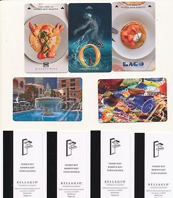 5 pc set---new-BELLAGIO--[same backs]---Las Vegas,NV--Room key