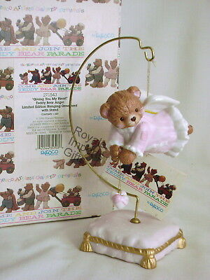 Cherished Teddies Giving You My Heart Angel Bear Ornament 271543 Ltd Ed New Box