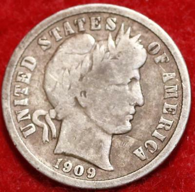 1909-S San Francisco Mint Silver Barber Dime Free Shipping
