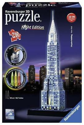 Ravensburger 12595 - Chrysler building night light, Puzzle 3D