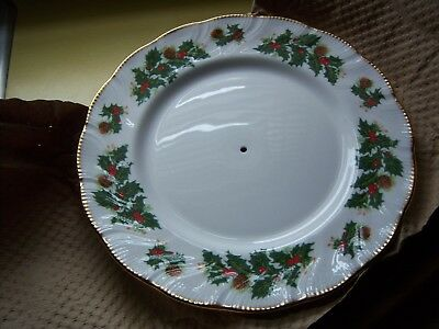 Queens China YULETIDE Staffordshire 2 Tier Serving Tray - New
