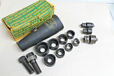 GREENLEE 735BB Conduit Knockout Punch Set w/ Leather Case + Extras