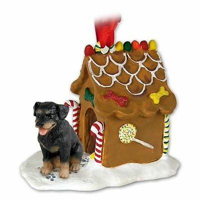 ROTTWEILER Dog Gingerbread Ginger Bread House Christmas ORNAMENT