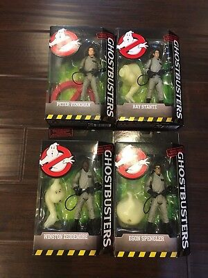 LOT of 4 MATTEL GHOSTBUSTERS COLLECTION ACTION FIGURE SET EGON/RAY/PETER/WINSTON