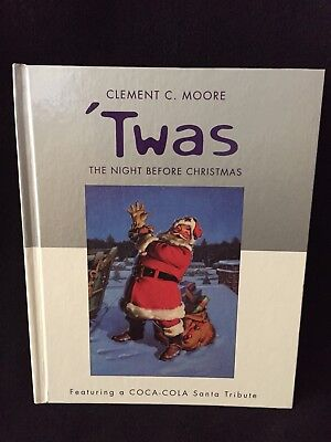 Twas The Night Before Christmas Book Hallmark Coca Cola Santa By Clement C Moore