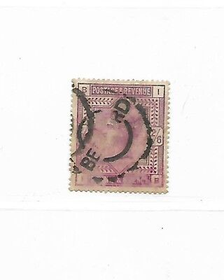 Great Britain Stamp Scott #96 Used 2sh6p Lilac 1883 CV = $140