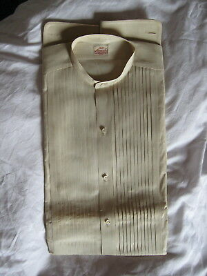 Shirt Old Store Stock MONARCH folded Pleated front pearl buttons Cluet Peabody