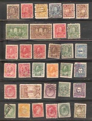 a stock page of early used stamps from Canada.