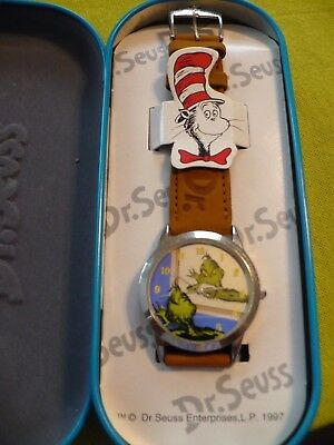 Vintage 1997 Dr.Seuss Wrist Watch with The Grinch