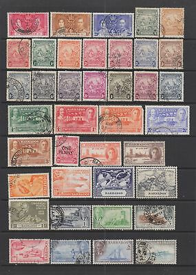 Barbados KGVI collection , 53 stamps.