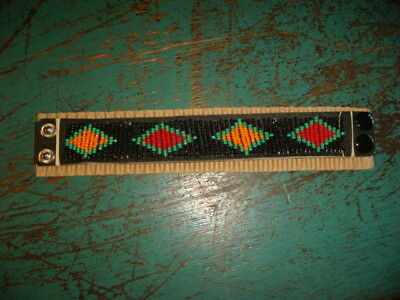 New African Beaded Cuff Snaps Masai Tribe Beads African beading tribal Jewelry