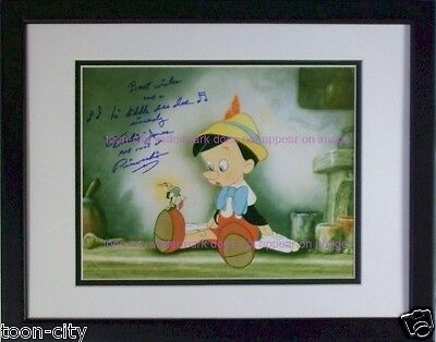 Signed Pinocchio Original voice ca 1940 Walt Disney Dickie Jones Hand Autograph