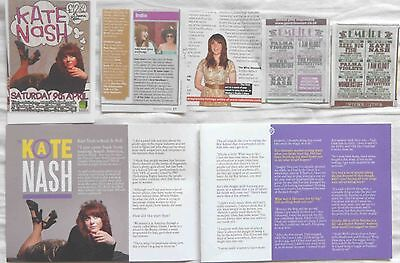 KATE NASH : CUTTINGS COLLECTION -adverts interview-