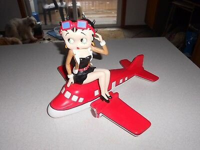 "2002 Hearst Betty Boop on Airplane Statuette*9""TallX12""LongX12""Wide*Very Cool!!"