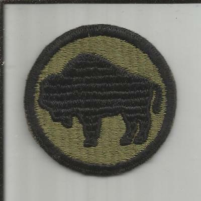 WW 2 US Army 92nd Infantry Division Ribbed Weaved Patch Inv# X071