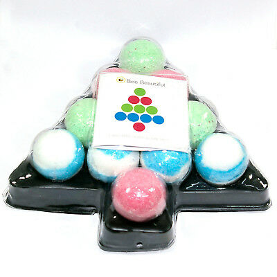 Bee Beautiful Christmas Tree Bath Bombs Gift Set - 11 x 65g bath bombs