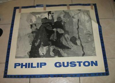 1958 Philip Guston Art Exhibition Poster Sidney Janis 15 East 57 Street Nyc