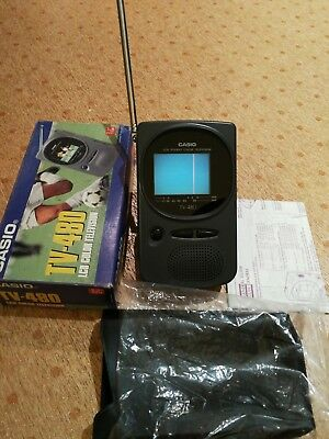 """NEW CASIO TV-480 LCD Color Colour TV Television Handheld Portable 2.2"""" screen"""