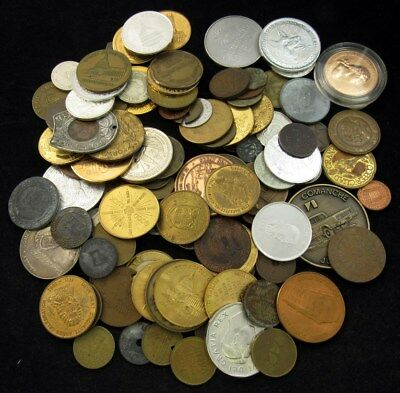 2lbs. Variety Lot of Tokens, Medals & Exonumia - Historical Novelty Advertising