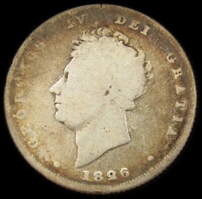 1826 Great Britain Shilling - KM.694 PG 544 - ASW 0.168 oz - VG -