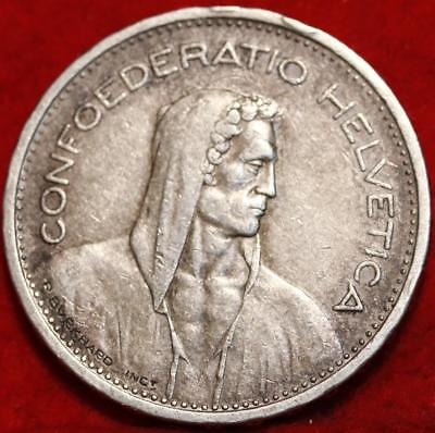 1935 Switzerland 5 Francs Silver Foreign Coin Free S/H