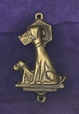 Airedale  Mom And Puppy Metal Vintage Door Knocker