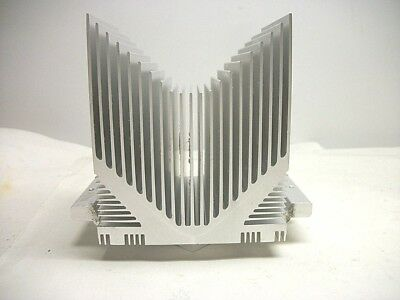 "ALUMINUM HEAT SINK  3-1/8"" X 3"" X 4""  tall Re-Purpose Steampunk Use"