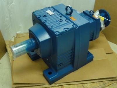 172108 New-No Box, SEW R147R87AM213/215 Inline Gearbox, 368:1 Ratio, 3.8Hp
