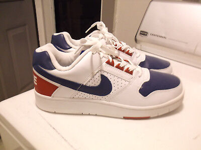 pick up 29d92 5ab9e 2004 Mens Nike Delta Force Red White Blue Leather Low Shoes Sz 12 308908 161