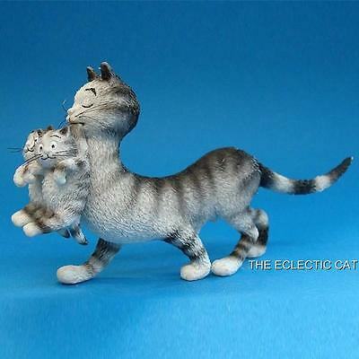 Mom and Her Baby Kittens CAT STATUE SCULPTURE ARTIST ALBERT DUBOUT FRANCE Chat