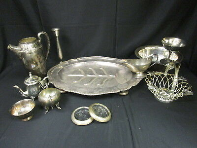Antique Vintage Silver Plated Mixed Assorted Items Lot (690)