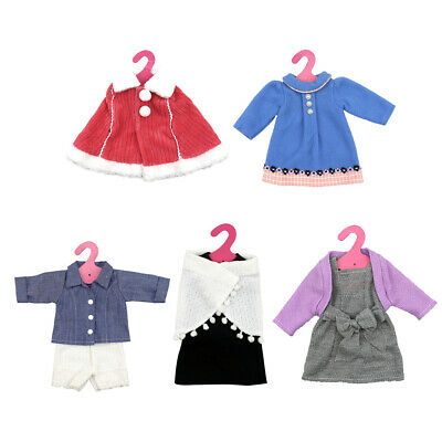 """8pcs Clothes for 18"""" American Girl Our Generation Dolls Sweater Dress Shawl"""