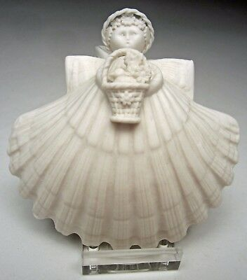 """Margaret Furlong 2000 Christmas Ornament Song of New Life Angel 4"""" with stand"""