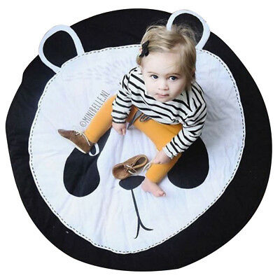 Kids Children Cartoon Animal Cotton Crawling Mat Rug Game Pad Climbing Blanket