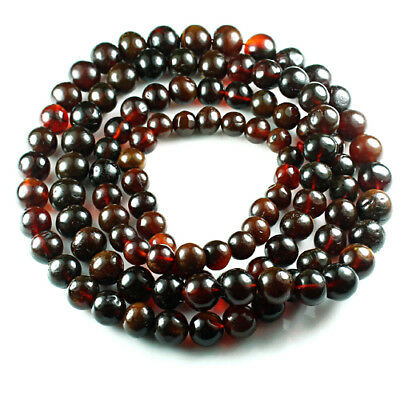 42g 100% Natural Mexican Blood Red Amber Bead Bracelet Necklace CSFb500