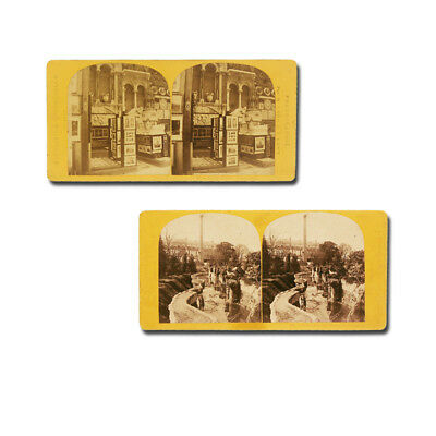 Exposition universelle 1867. 2 Stereophotographien