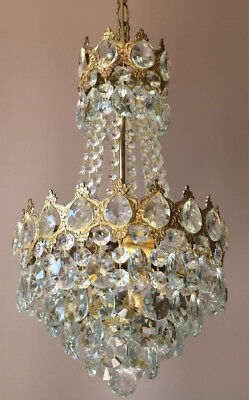 Antique Pendant French Crystal Art Nouveau Chandelier FLUSH Ceiling Lights Lamp