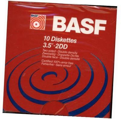 basf 3.5 inch two sided double density floppy disk - 10 pack