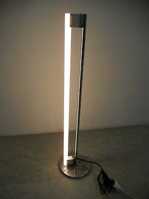 Lampada metallo cromato luce al neon floor lamp Eileen Gray Tube Light