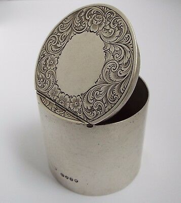 Lovely Rare English Antique 19Thc Victorian 1860 Solid Sterling Silver Spice Box