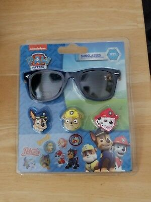 Paw Patrol Kids Sunglasses with 3D Characters & Stickers NEW