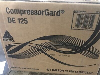 Citgo CompressorGard DE 125 Synthetic Oil   4 X GALLONS
