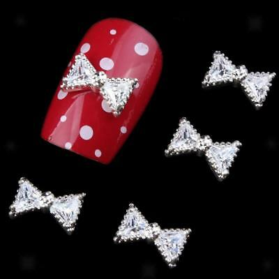 10pcs 3D Nail Art Rhinestone Glitter Crystal Acrylique Tip Décoration