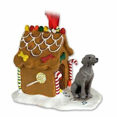 Weimaraner Dog Gingerbread House Christmas Holiday ORNAMENT